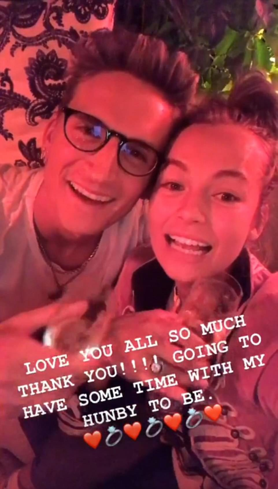 'Love you':Taking to her own social media, Emma posted a stream of adorable clips following the thrilling moment and was unable to contain her excitement