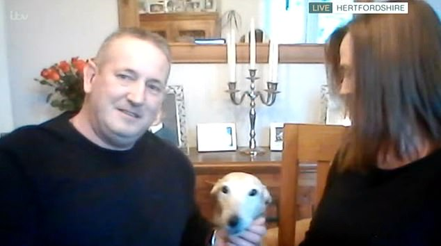 The con artist dog:Appearing on This Morning today, Mr Jones and his wife Michelle revealed how he snapped his ankle after jumping off a wall, before Billy started limping the next day
