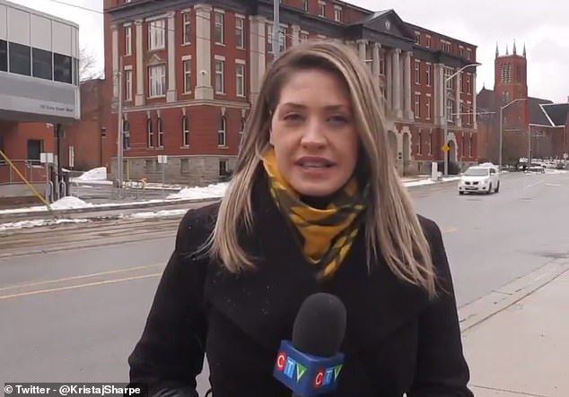 Video journalist Krista Sharpe angry after heckle during live broadcast