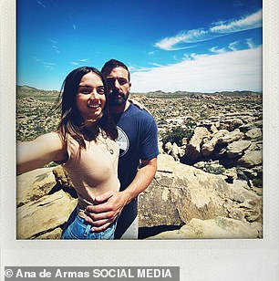 Happy: Ana made their relationship Instagram official in April when she shared snaps of the couple hanging out on her 32nd birthday