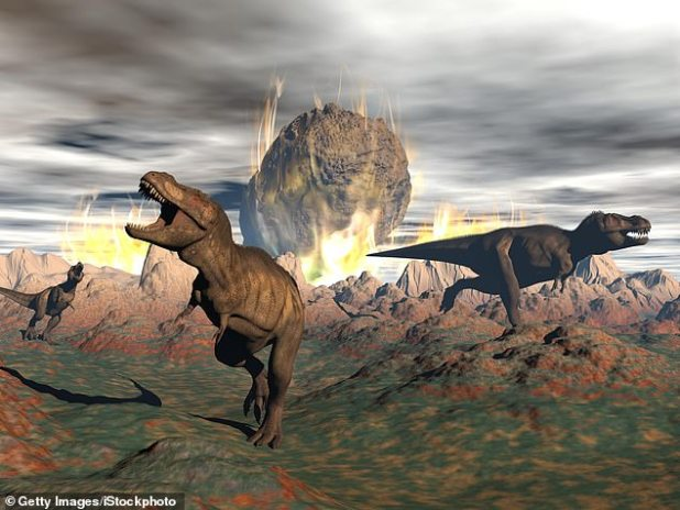 Peter Brannon's 2017 book 'The End of the World' suggests an asteroid that erases dinosaurs that carry debris into space with the bones of flying dinosaurs - all of which were settled on the moon
