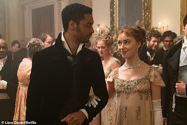 Shock:Bridgerton heart-throb Regé-Jean Page will not return for series two, it was announced on Friday (pictured in still with onscreen wifeDaphne Bridgerton, played by Phoebe Dynevor)