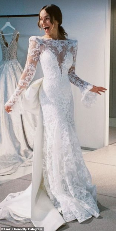 Emma Louise Connolly details the intricate creation of her stunning lace bridal dress