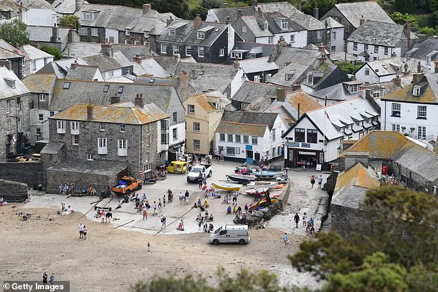 Sightseeing: The actor, 42, who plays Al Large on the ITV1 series, looked unfavourably upon tourists who visit the Cornwall destination to 'have a look at the Doc's house, have a pizza and leave'