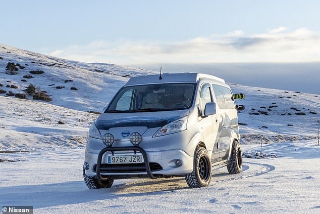 The Winter Camper is based on the existing Nissan e-NV200 MPV - an electric vehicle that costs just under £30,000