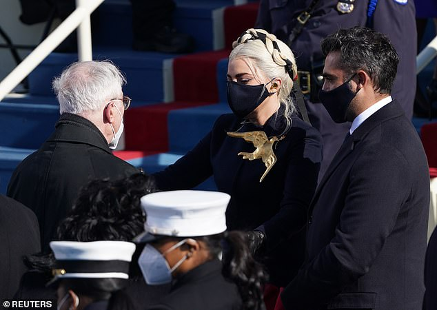 He made the rounds with his Gaga: The two were talking to plenty of VIPs in DC