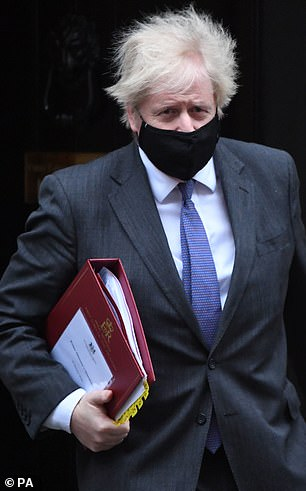 Boris Johnson leaves 10 Downing Street to attend Prime Minister's Questions at the Houses of Parliament
