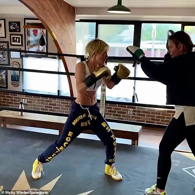 She fights in shape!  In May, Nicky left fans in awe on Thursday when she uploaded a series of Instagram videos of herself boxing at a gym.