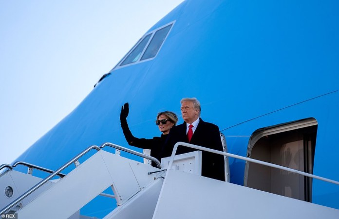 Donald and Melania Trump left Washington, DC on Wednesday morning and landed in Palm Beach around the same time Biden's dedication ceremony began. Pence was not present during remarks where Trump thanked his No.2