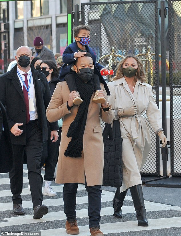 Chrissy Teigen, John Legend and son Miles enjoy DC post-inauguration