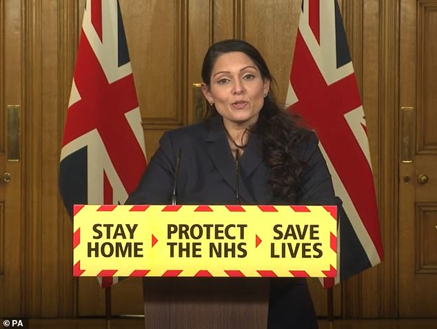 Home Secretary Priti Patel announced the hefty penalty just for people going to illicit events yesterday evening as she lashed out at people aiding the spread of Covid