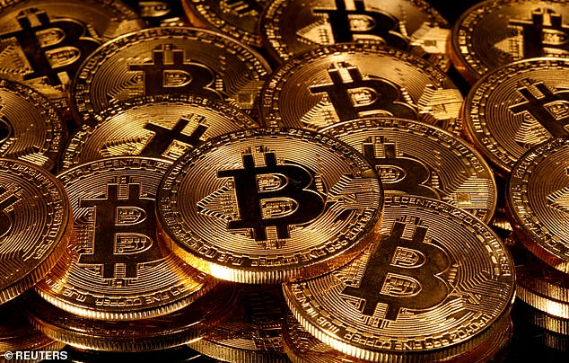 Crypto-slump: Bitcoin fell as low as $31,977, meaning it has lost nearly a quarter since touching a record $42,000 on January 8.