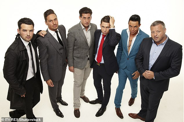 Millionaire lifestyle: The businessman was introduced as Sugar Hut's owner (pictured with Ricky Rayment, Mario Falcone, James Argent, Joey Essex, Bobby Norris)
