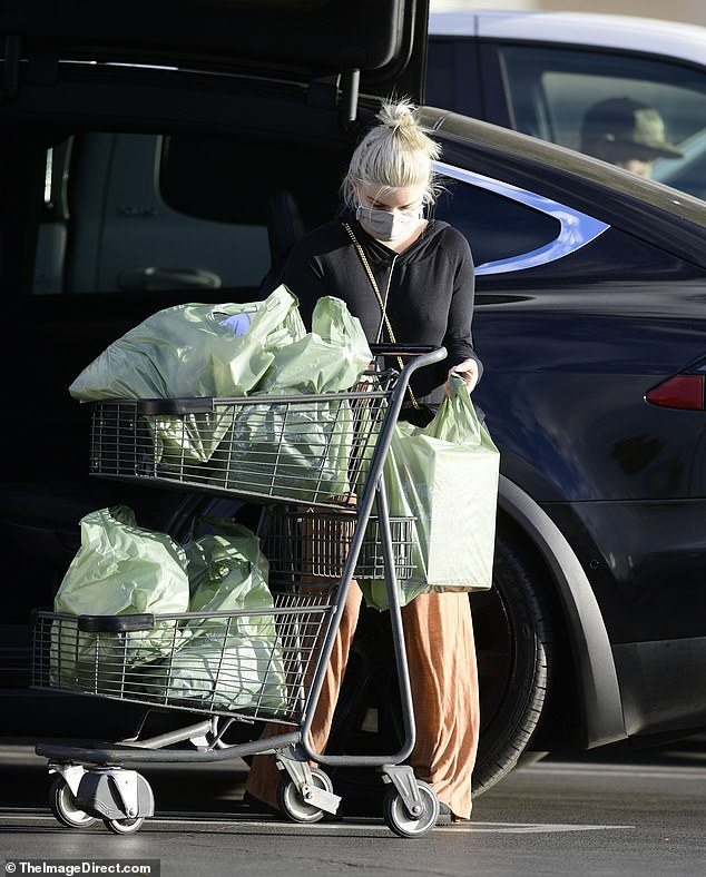 Do the heavy lifting!  Winter unloaded his fully loaded cart into his car