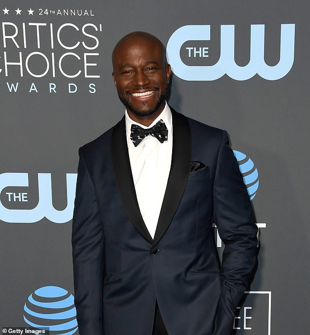 Praise: Taye Diggs, 50, praised ex-wife Idina Menzel during a conversation about her breakout role in the Broadway musical Rent during an appearance on The Drew Barrymore Show