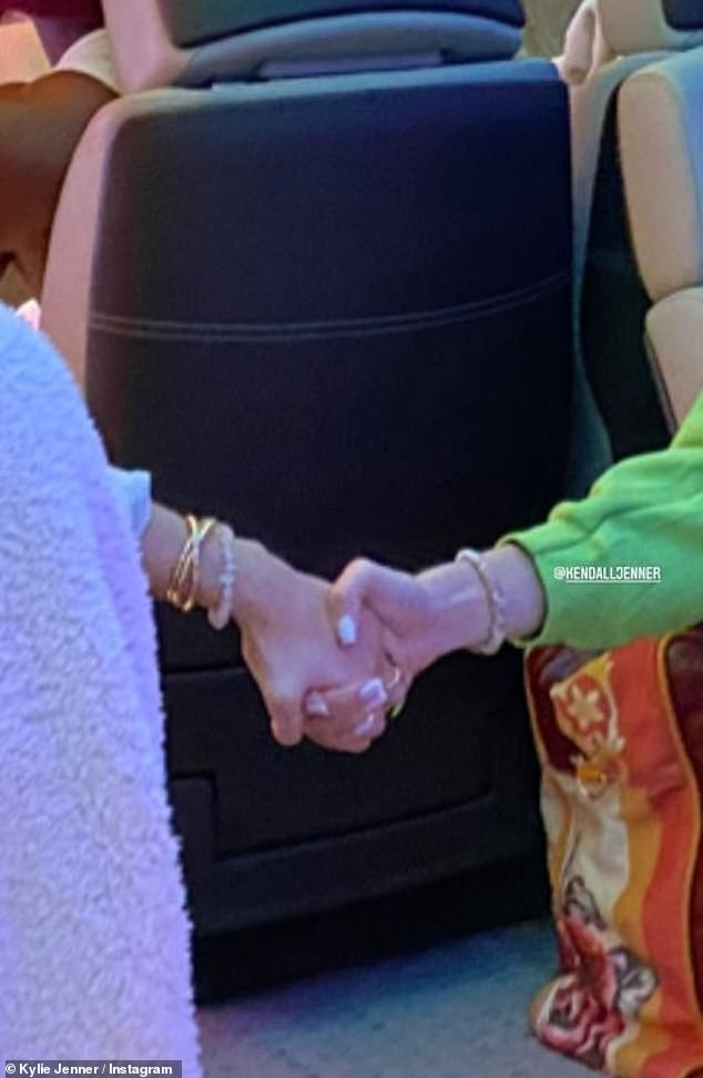 Holding Kendall's Hand: Jenner was clearly feeling nostalgic, as she also uploaded a bunch of content back to her IG Stories over the weekend