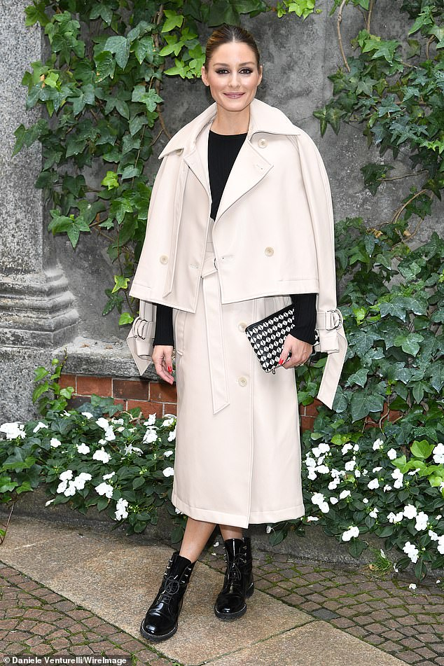 """Old school: In December, Olivia told Page Six that she expects people to set themselves in fashion by replicating the """"roaring twenties"""" once the pandemic has passed;  seen in September in Milan"""