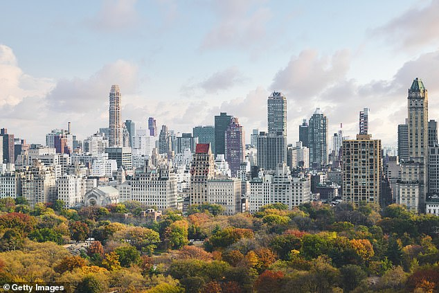 New York (pictured in stock photo), which was ranked as the second favourite city in 2019, fell down to 11th this year following a year-long battle against the virus