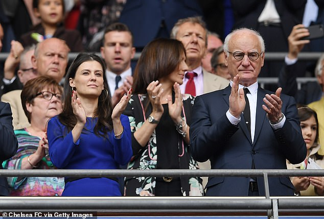 At the Stamford Bridge meeting was sporting director Marina Granovskaia (left) and Chelsea chairman Bruce Buck (right)