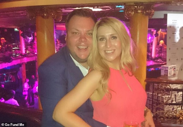 The GoFundMe page was set up by Terry's friends - Sarah-Louise (pictured together), Cat and Sam
