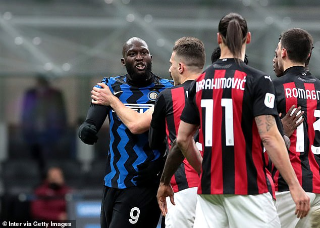 Lukaku was heard telling the AC Milan striker 'f*** you and your wife, you little b****'