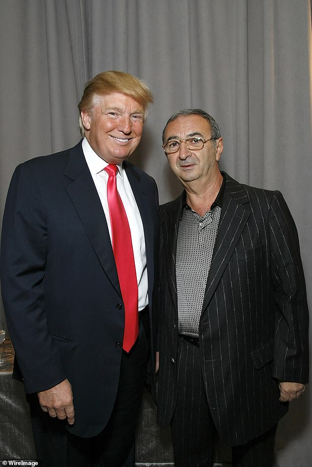 Donald Trump and Tamir Sapir at the Trump Soho Launch on September 19, 2007 in New York City. Tamir Sapir owned a store and sold electronic equipment to Soviet diplomats, KGB officers and Politburo members returning to the Soviet Union