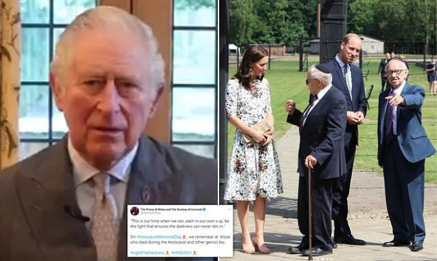 Prince Charles leads tribute to victims on Holocaust Memorial Day