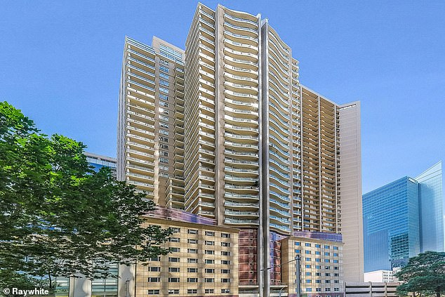 Units in Sydney's CBD (pictured above) are comfortably selling for more than $1million a piece - as buyers take advantage of low interest rates