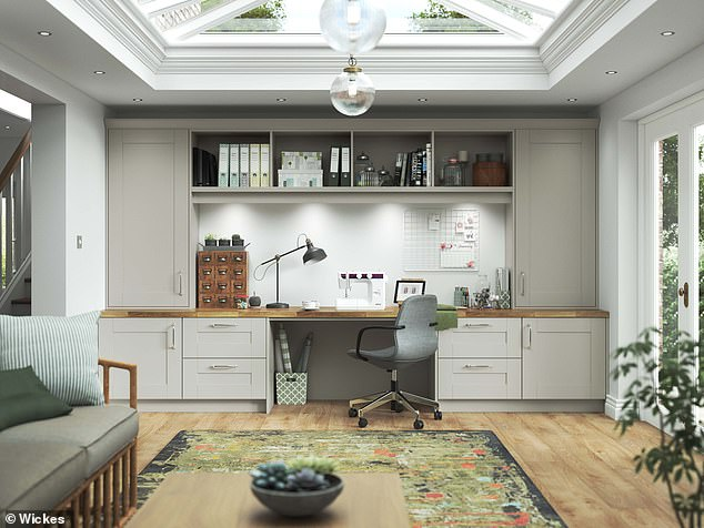 A home office to call your own could become reality with Wickes' fitted home office range