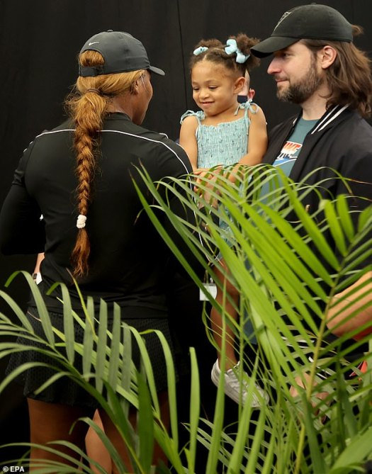 Serena Williams' toddler daughter and husband Alexis ...