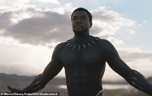 Act of kindness: Davina talked about the 'amazing things' actor Chadwick Boseman did throughout his life before his untimely death in 2020, aged 44 (pictured in Black Panther, 2018)
