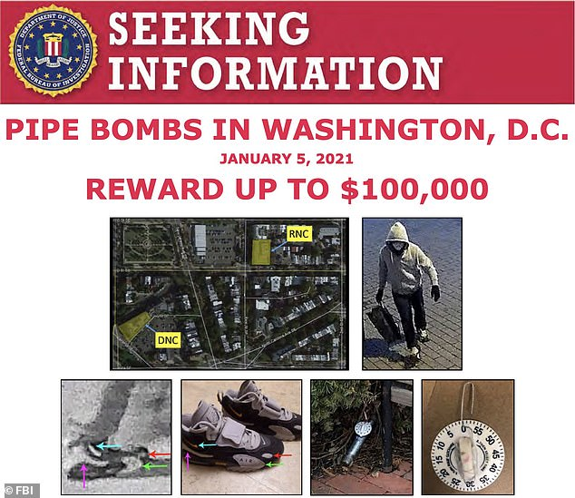 A new wanted poster was released Friday by the FBI to track down the suspect who planted pipe bombs in DC