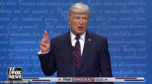 Alec Baldwin's Donald Trump was also notably absent from the show's opening.  On Twitter, one viewer noted: