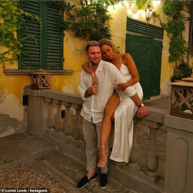 'Partner in crime': Their outing comes after Leona gushed over her dancer husband in a sweet snap she posted on his 32nd birthday earlier this month