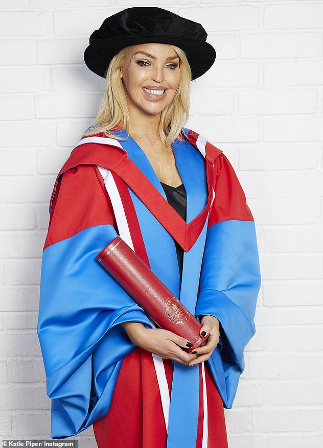 Well done: In November, Katie received a Honorary Doctorate Award of the Royal College of Surgeons in Ireland to mark her achievements as a healthcare leader