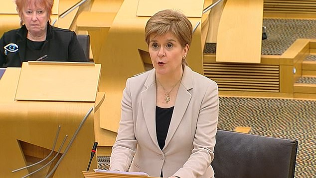 Primary, nursery and some secondary pupils will head back to class from February 22 if the coronavirus rate is low enough, the First Minister told Holyrood today