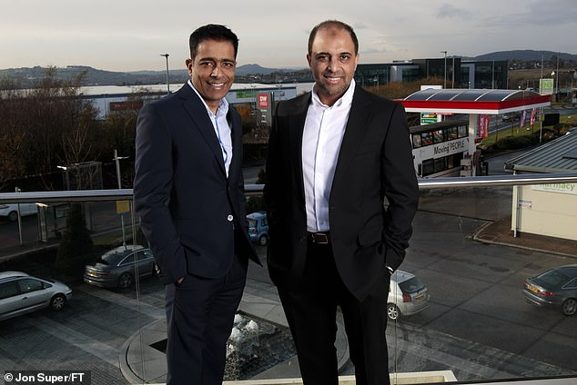 Petrol Kings: Zuber and Mohsin Issa own 50 per cent of Blackburn-based EG Group