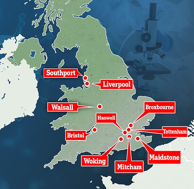 Surge testing is now taking place at a variety of locations in England amid concerns about the mutant strains of the virus. Walsall is included in the list despite it not having recorded a case of the variant without travel links since December, a local official said