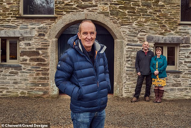 Presenter Kevin McCloud (pictured) worries the budget to covert the old flour mill which has been left abandoned for over 60 years will make the restoration an even bigger challenge