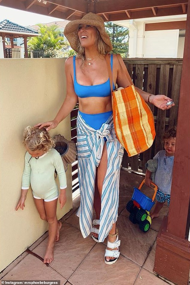 Phoebe has said she will keep using the Burgess surname because that is what her children are called. She has continued to post images to Instagram of her apparently idyllic lifestyle