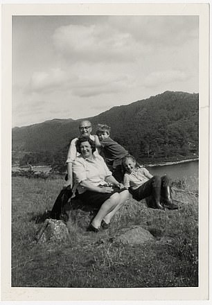 Nicky as a boy with his mum, dad and sister Fiona on holiday in the Highlands, 1967