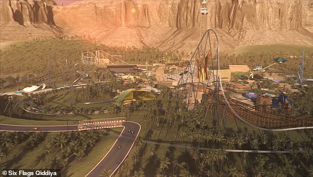 Called 'Falcon's Flight,' the amusement ride is under development at the Six Flags Qiddiya in the Middle East, which is set to open in Saudi Arabia in 2023