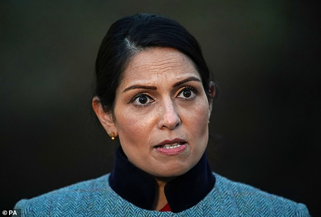 The pandemic has skewed crucial data on migration, leaving the Government ¿flying blind¿ on the statistics, a study warns today (pictured: Home Secretary Priti Patel)