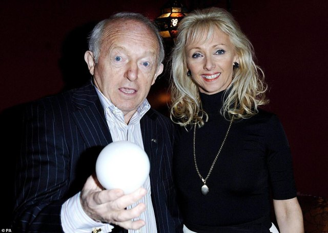 Debbie McGee and her late husband Paul Daniels at a screening of The Illusionist at London's Soho Hotel in February 2007