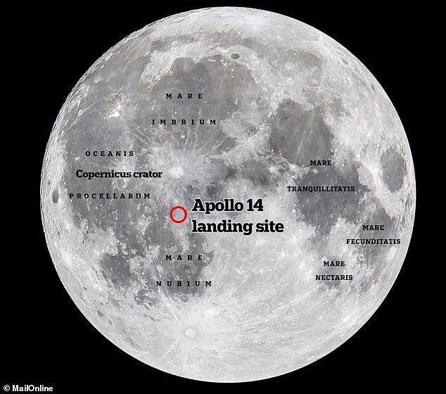 The Apollo 14 mission made their landing in theFra Mauro formation — so named after the15th-century Italian monk and mapmaker — on the near side of the Moon