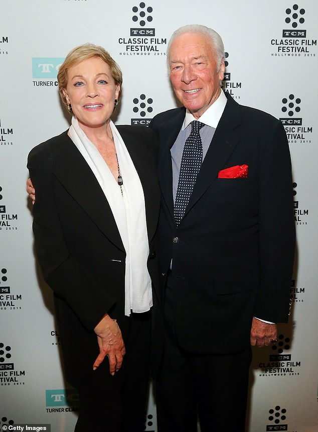 Plummer and Julie Andrews are pictured attending a screening of The Sound of Music in 2015