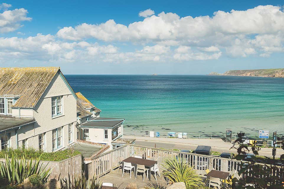 Full of character: The Old Success Inn is a 17th Century property in Sennen, Cornwall, opposite the beach