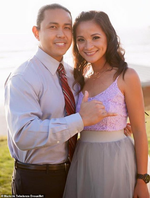 Maya Millete is pictured with her husband, Larry. The couple were reportedly having marriage problems prior to the mom-of-three's disappearance