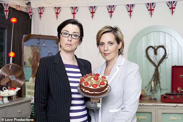 British TV icons:The comedian rose to fame as part of the comedy duo Mel and Sue alongside Mel Giedroyc (right)