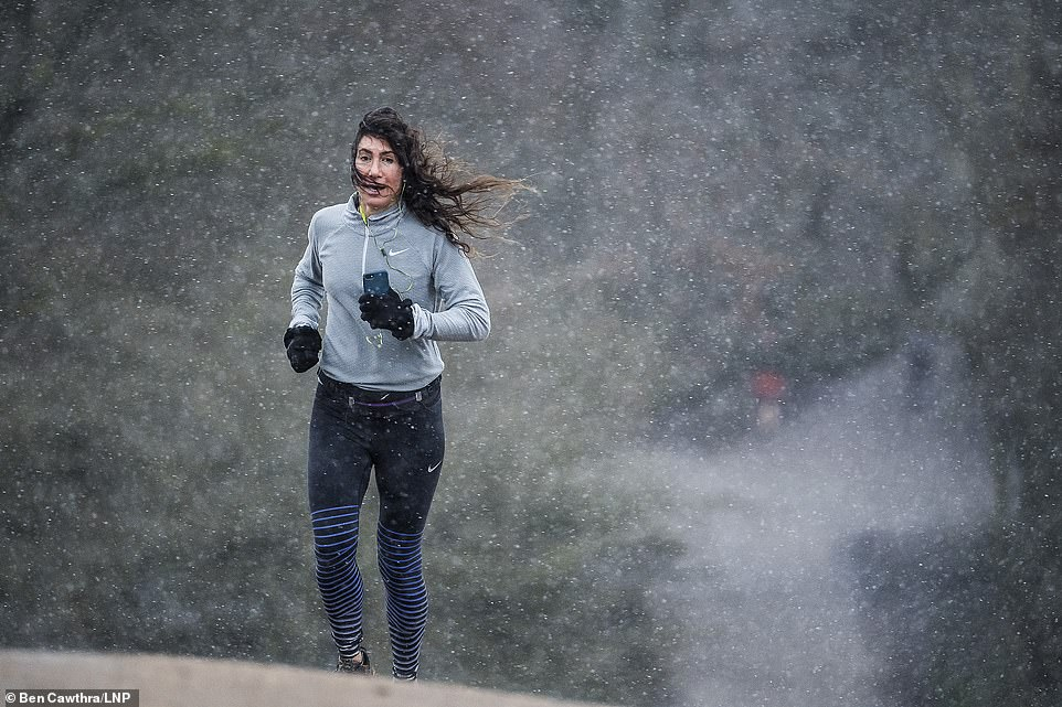 Snowfall on Hampstead Heath in Hampstead in London as Storm Darcy brings snow to large parts of the South of England
